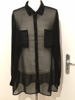 C&A Bluse Gr.48 schwarz elegant mit Strass