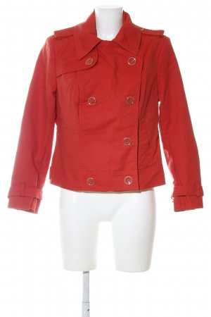 C&A Pea Jacket red casual look