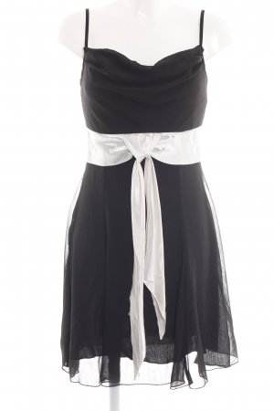 C&A Chiffonkleid schwarz-weiß Elegant