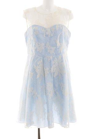 C&A Cocktailkleid blau-wollweiß Blumenmuster Elegant