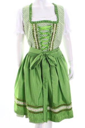 C&A Dirndl weiß-grün Country-Look