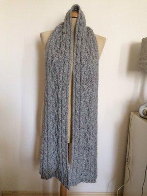 C&A Bufanda de lana gris claro-gris