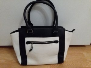 C&A Handtasche schwarz/weiß
