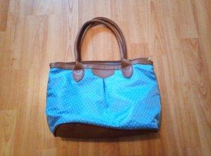 C&A Handtasche Tasche Blau Punkte Dots neu