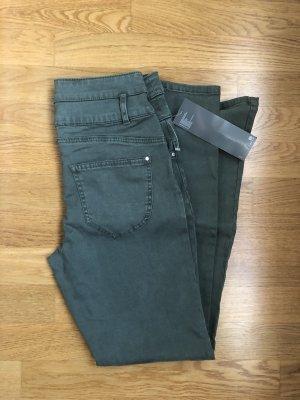 C&A High Waist Jeans Khaki Grün NEU 38