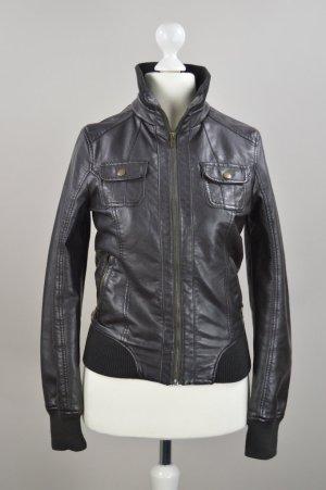 C&A Jacke in braun in Lederoptik Größe S