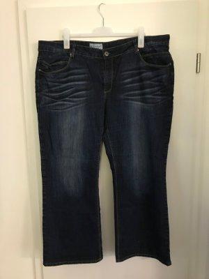 C&A Jeans Gr.52 Bootcut-Hose used blau