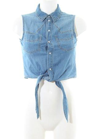 C&A Jeansweste stahlblau Casual-Look
