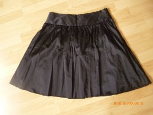 C&A Falda de lino negro tejido mezclado