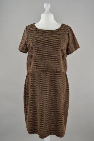 C&A Kleid mit Struktur und Muster braun Größe 44