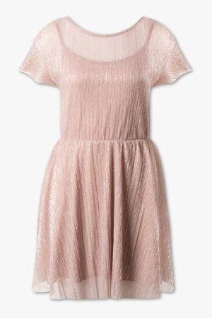 C&A Blouse Dress pink-silver-colored mixture fibre