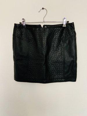 C&A Falda de cuero negro