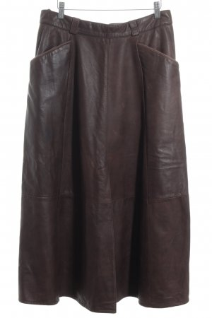 C&A Leather Skirt brown casual look
