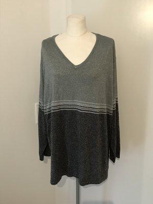 C&A Plus Size Pullover Gr.52/54 Silber Glitzer Strickpullover