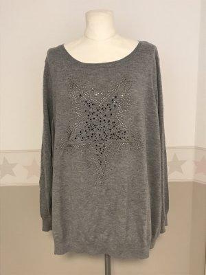 C&A Plus Size Pullover Gr.56/58 grau Glitzer Strickpullover