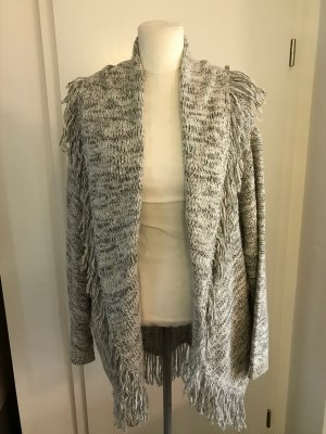C&A Coarse Knitted Jacket white-grey