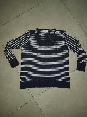 C&A Twin-set trui wit-donkerblauw