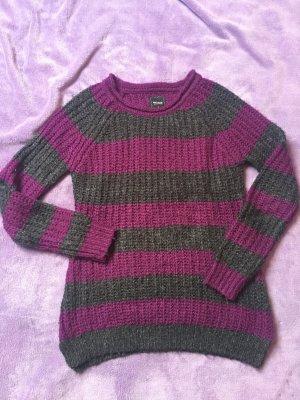 C&A Pullover L lila grau