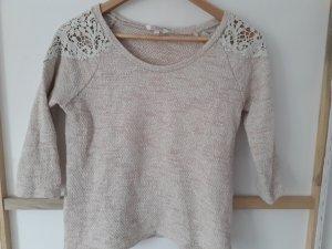 C&A Short Sleeve Sweater white-light pink