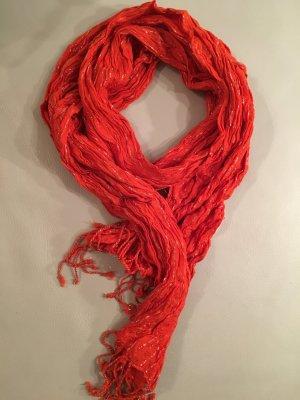 C&A Schal orange mit silbernen Fäden, NEU mit Etikett