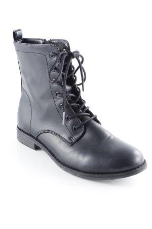C&A Bottines à lacets noir style décontracté