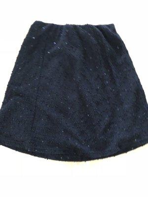 C&a schwarzer Rock, 36, Pailletten, schwarz, glitzer
