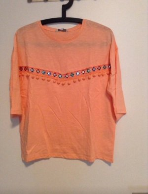 C&A Shirt 3/4 arm bommeln Spiegel orange Lachs M