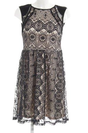 C&A Spitzenkleid schwarz-creme Elegant