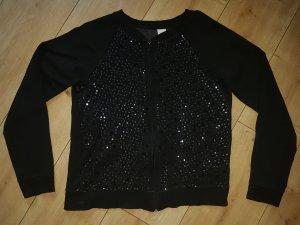 C&A Sweatjacke Black Schwarz Pailletten Abend Glamour Chic Weihnachten Silvester Party  S 36