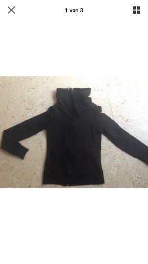 C&A Sweatjacke / Hoodie hoher Kragen schwarz Gr. XS NEU