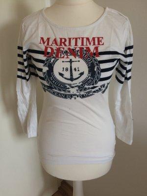 C&A T-shirt weiß S 36 neu gestreift Maritime