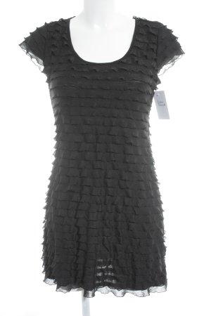 C&A Volantkleid schwarz Elegant