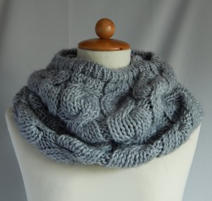 C&A Knitted Scarf grey mixture fibre