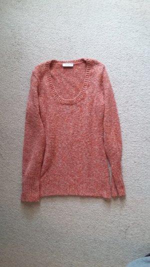 C&A Yessica, orange melierter Pullover, eng anliegend Größe S