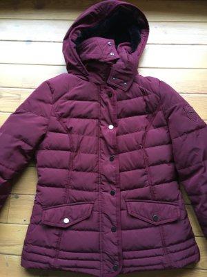 C&A Yessica Outerwear Collection Daunen Jacke in weinrot Gr. 40