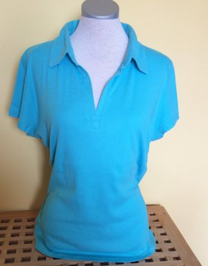 C&A Yessica Poloshirt Shirt hellblau Größe L