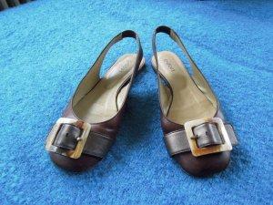Slingback Ballerinas dark brown