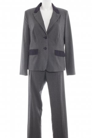 C'est Paris Trouser Suit light grey allover print business style