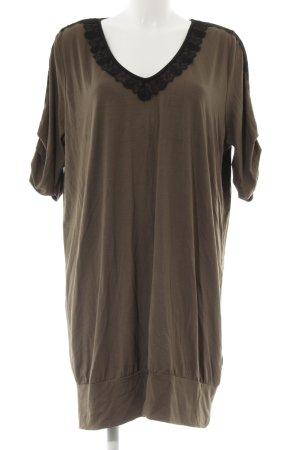 C'est Paris Vestido estilo camisa negro-marrón grisáceo look casual