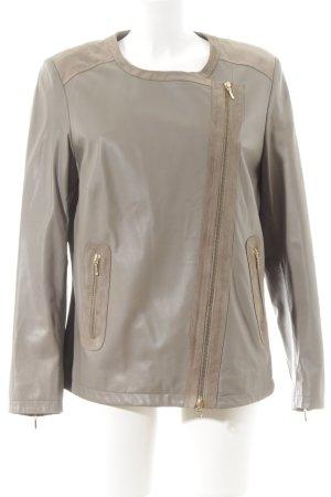 C'est Tout Lederjacke grau-beige Street-Fashion-Look