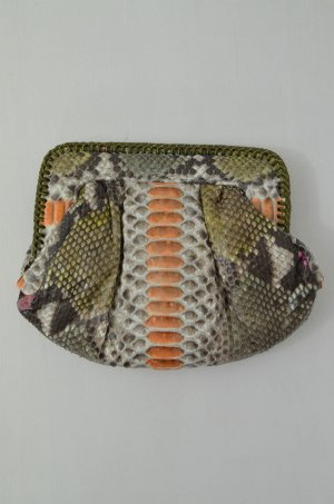 C'IVETTE Clutch Tasche Mod.Nice Amir Pier Abendtasche Leder Reptil-Optik