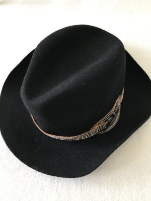 Costume National Cappello di lana nero-marrone-nero