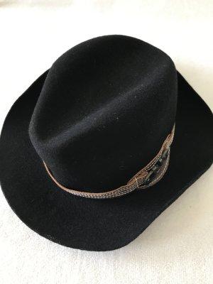 Costume National Wollen hoed zwart-zwart bruin