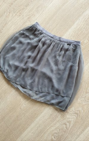C'N'C Costume National rock skirt Seide 2-lagig grau gr.38