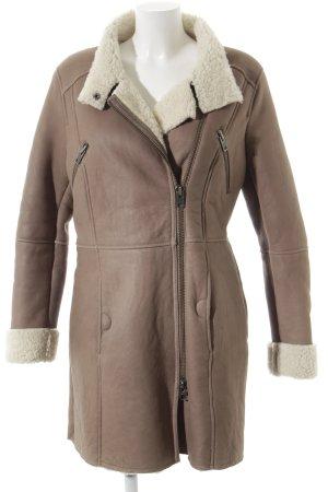 C.P. Twentynine Abrigo de cuero beige claro-marrón grisáceo look casual