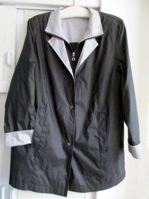 Veste d'extérieur bleu foncé-gris tissu mixte