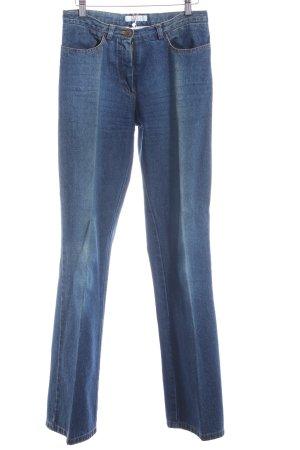 C2C Jeansschlaghose dunkelblau Washed-Optik