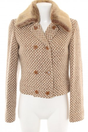 C2C Wool Jacket brown-natural white allover print casual look