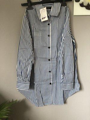 Camicia blusa bianco-blu