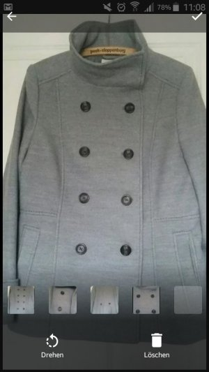 H&M Heavy Pea Coat light grey